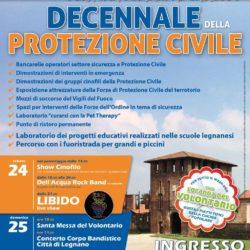 Locandina Decennale Protezione Civile